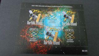 Norfolk Island 2001 Ms 759 Satellite photo