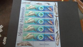 Norfolk Island 2002 Caledonia Joint Issue Sperm Whale Sheetlet photo