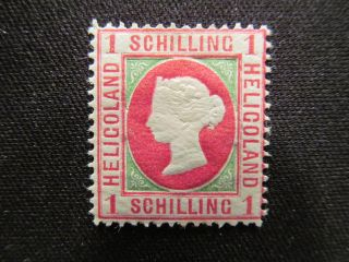 1873 Heligoland Stamp,  Mogh 11,  Cat.  $210.  00 photo