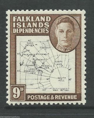 Falkland Islands Dependencies - 1948 - Sgg15 - Cv £ 25.  00 - Mounted photo