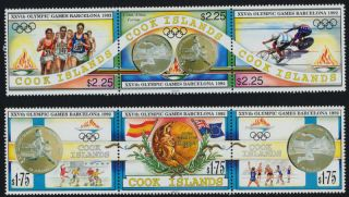 Cook Islands 1108 - 9 Olympic Sports,  Cycling,  Flag photo