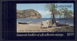 Montserrat 322a Booklet Carib House,  Artifacts,  Canoe photo