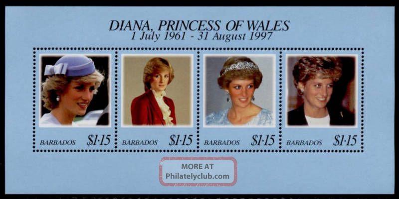 Barbados 950 Princess Diana British Colonies & Territories photo
