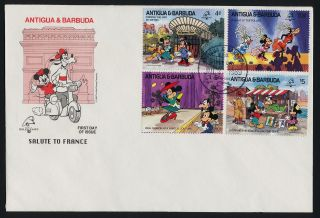 Antigua 1207 - 16 Fdc ' S Disney,  Philexfrance,  Helicopter,  Architecture,  Balloon photo