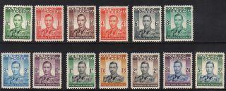 Southern Rhodesia 1937 - King George Vi - Sg 40 - 52 (mh) photo