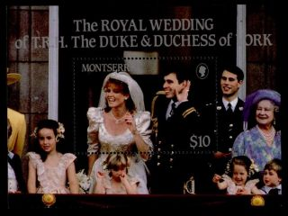 Montserrat 617 Prince Andrew,  Sarah Ferguson Wedding photo