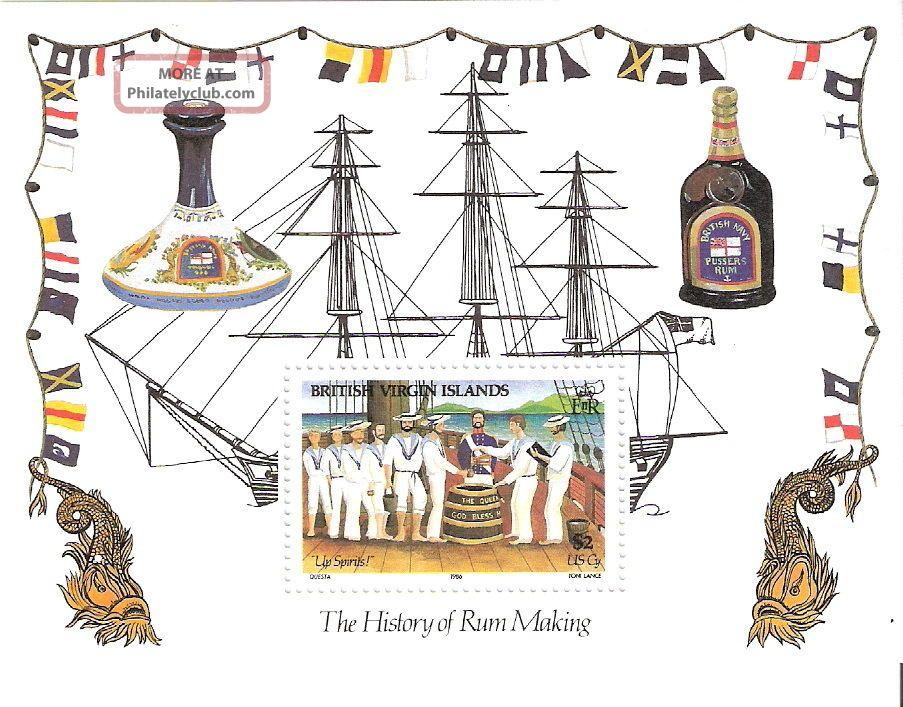 Virgin Islands 1986 History Rum Making S/s (sc 545) British Colonies & Territories photo