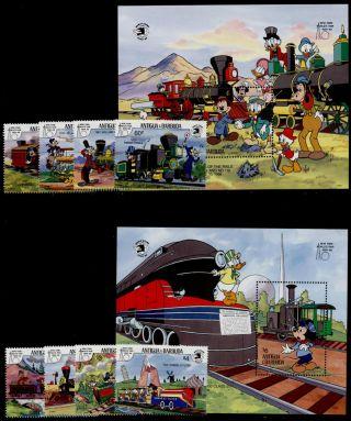 Antigua 1248 - 57 Disney,  Trains,  York World ' S Fair photo
