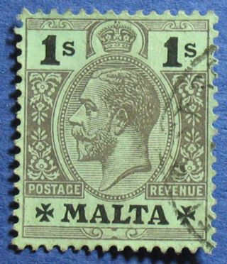 1921 Malta 1s Scott 59b S.  G.  81d Cs02518 photo