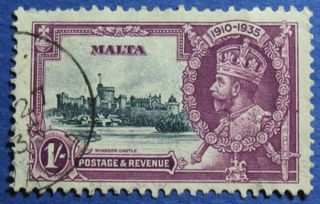 1935 Malta 1s Scott 187 S.  G.  213 Cs02527 photo