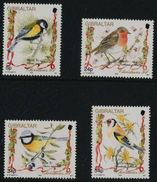 Gibraltar 668 - 71 Birds,  Christmas photo