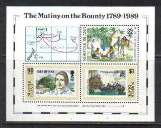 Norfolk Island 1989 Bounty Mutiny 200th Ss (456) photo