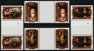 Sierra Leone 556 - 9 Gutter Pairs George Washington,  Horse photo