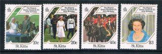 St Kitts Queens ' S 60th Birthday Sg185/8 photo