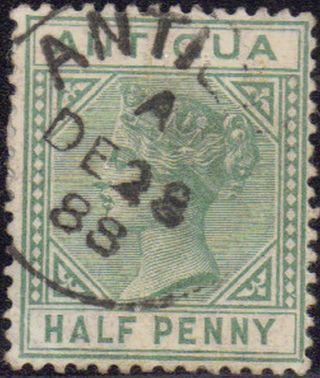 Antigua 1882 1/2d Sg 21 28 Dec 1888 photo