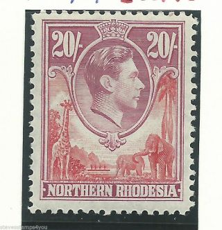 Northern Rhodesia - 1938 To 1952 - Sg45 - Cv £ 65.  00 - Mounted photo