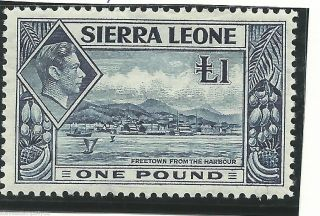 Sierre Leone - 1938 - Sg200 - Cv £ 20.  00 - Mounted photo