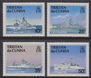 Tristan Da Cunha - 1994 Ships Of The Royal Navy (3rd Series) (4v) Um / photo
