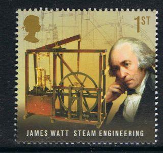 James Watt - Steam Engineering Commemorated On 2009 British Stamp - Nh photo