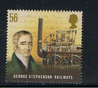 George Stephenson - Railways - Commemorated On 2009 British Stamp - Nh photo