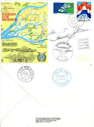 1972 Weerzien In De Biesbosch Rafes Sc3 Crew Signed Commemorative Cover photo
