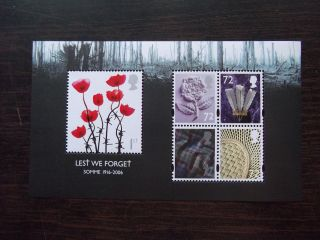 Ms2685 2006 Lest We Forget (1st Issue) Royal Mail Miniature Sheet photo