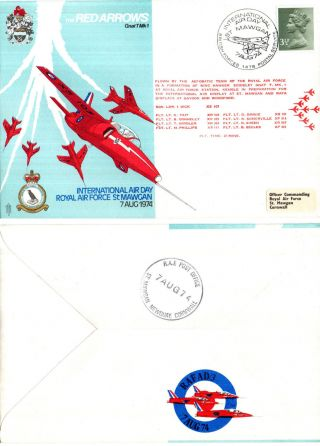 1974 Red Arrows International Air Day St Mawgan Commemorative Cover photo