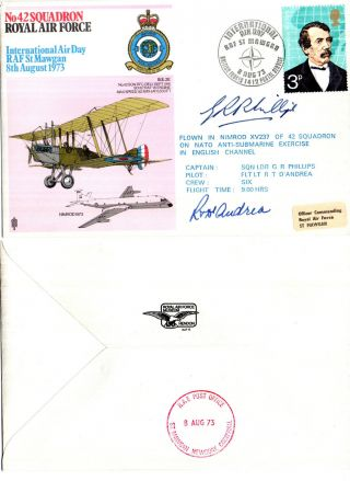 1973 42 Squadron International Air Day St Mawgan Commemorative Signed Cover photo