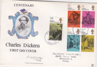 1970 Charles Dickens.  Fdc photo
