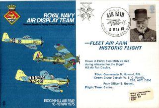 17 May 1975 Biggin Hill Air Fair Rn Air Display Flown Commemorative Cover photo