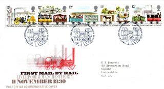 11 November 1980 Liverpol & Manchester Railway Commemorative Cover Shss photo