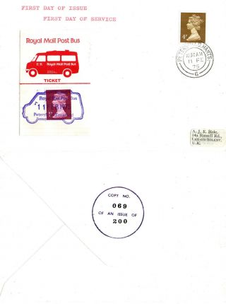1975 Petersfield To Froxford Royal Mail Post Bus Commemorative Cover photo