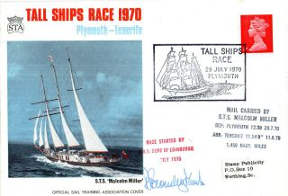 29 July 1970 Tall Ships Race Signed & Carried Commemorative Cover photo