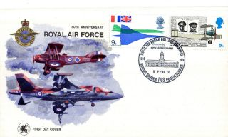 1970 50th Anniversary Raf College Cranwell Commemorative Cover Bfps 1103 Shs photo