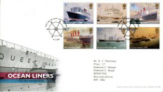 13 April 2004 Ocean Liners Royal Mail First Day Cover Southampton Shs (a) photo