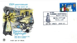 1 April 1970 Florence Nightiingale Stuart First Day Cover Birthday Exhibition photo