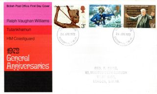 26 April 1972 General Anniversaries Post Office First Day Cover Battersea Fdi photo