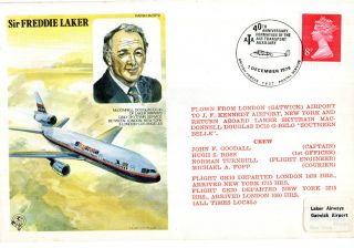 1979 Sir Freddie Laker Commemorative Cover Air Transport Auxiliary Shs photo