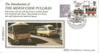 1985 Merseyside Pullman Benham Silk R11 First Day Cover Euston Station Shs photo