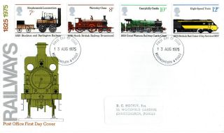 13 August 1975 Railways Post Office First Day Cover Bournemouth Fdi photo