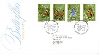 13 May 1981 Butterflies Post Office First Day Cover London Sw Shs photo