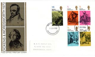 3 June 1970 Literary Anniversaries Post Office First Day Cover Bournemouth Fdi photo
