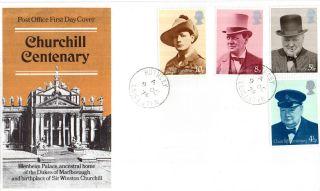 9 October 1974 Sir Winston Churchill Centenary Post Office Fdc Rothley Cds photo