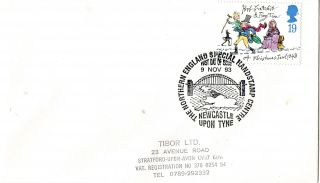 9 November 1993 Christmas First Day Cover Northern England Handstamp Centre Shs photo