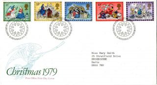 21 November 1979 Christmas Post Office First Day Cover Bureau Shs (a) photo