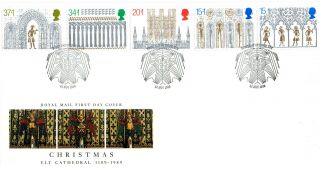 14 November 1989 Christmas Royal Mail Unaddressed First Day Cover Ely Shs photo