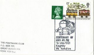 18 May 1981 Centenary Of Loco Ko 752 Keighley West Yorkshire Cover Shs photo