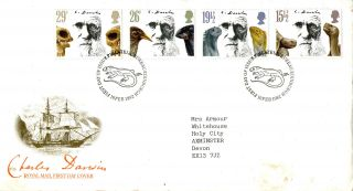 10 February 1982 Charles Darwin Royal Mail First Day Cover Bureau Shs (a) photo