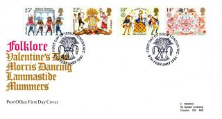 6 February 1981 Folklore Post Office First Day Cover London Wc Shs (p) photo