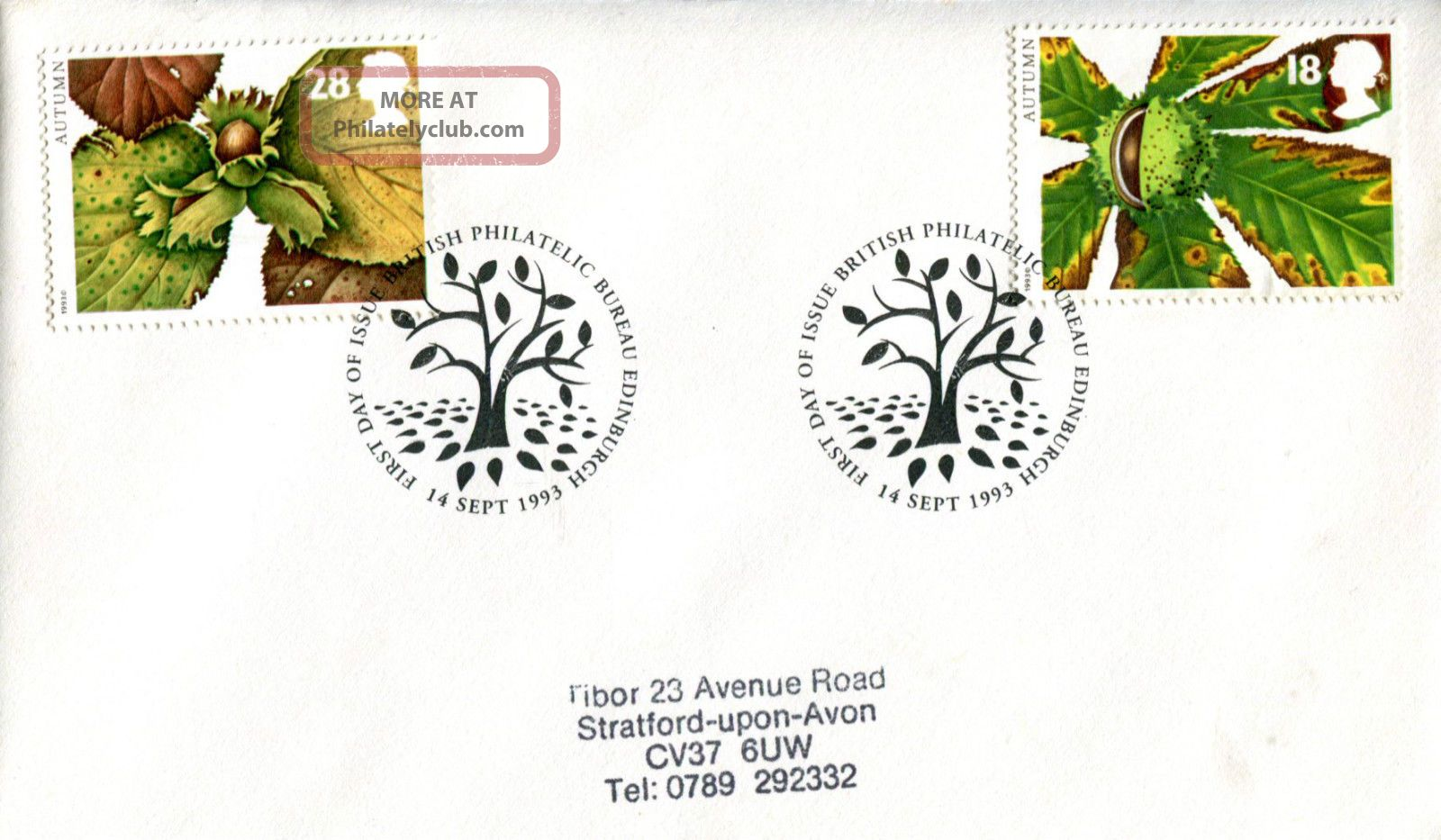 14 September 1993 Autumn First Day Cover Bureau Shs Topical Stamps photo